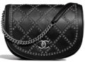 Chanel Coco Eyelets Round Flap Bag