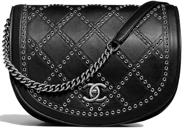 Chanel-Coco-Eyelets-Round-Flap-Bag