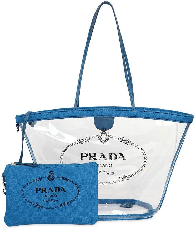 Prada Tote Laukku : Prada logo pvc tote bag bragmybag