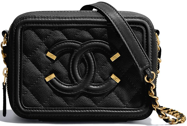 42f28f1830d1 Chanel Caviar Quilted Cc Filigree Clutch With Chain Black - Best ...