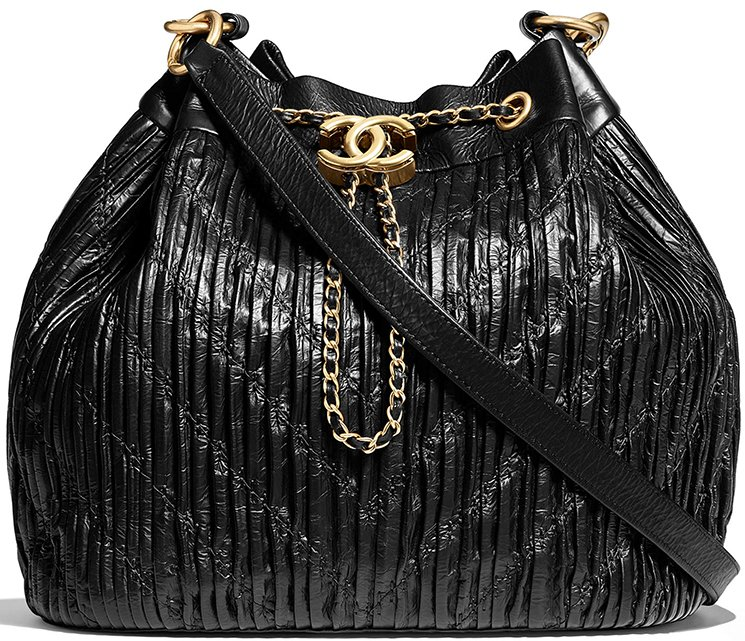 b4dcfa11e3eaf Chanel Coco Pleated Drawstring Bag