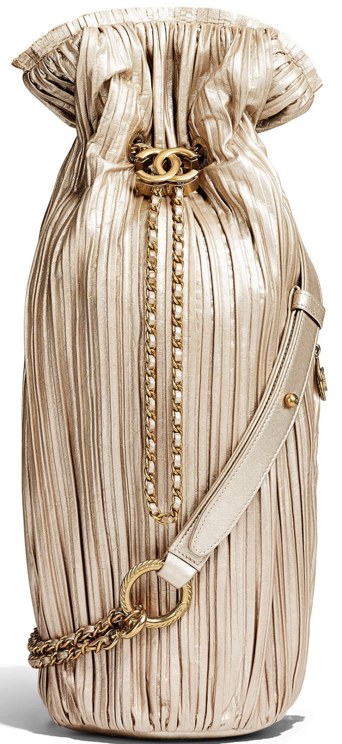Chanel-Coco-Pleated-Drawstring-Bag