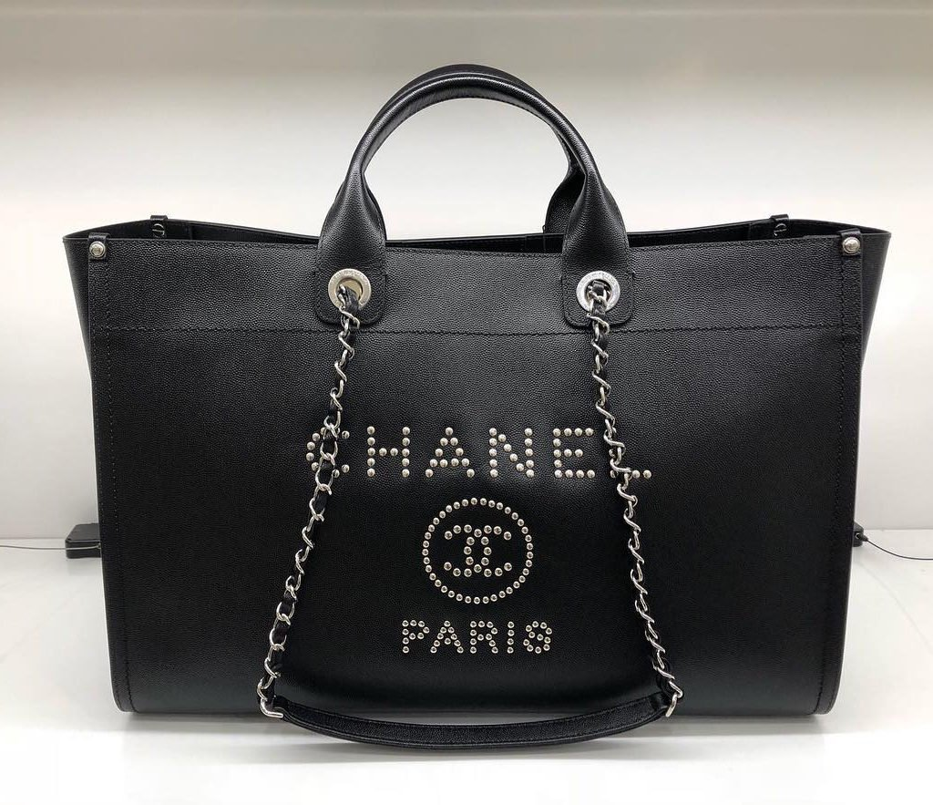 Chanel-Deauville-Studded-Logo-Tote-Bag-2
