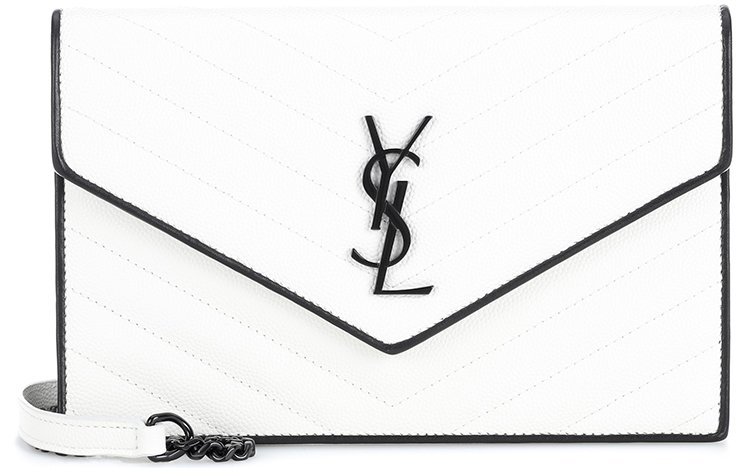 Saint-Laurent-Classic-Monogram-Envelope-Flap-Bag-7