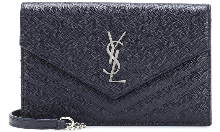 Saint-Laurent-Classic-Monogram-Envelope-Flap-Bag-9