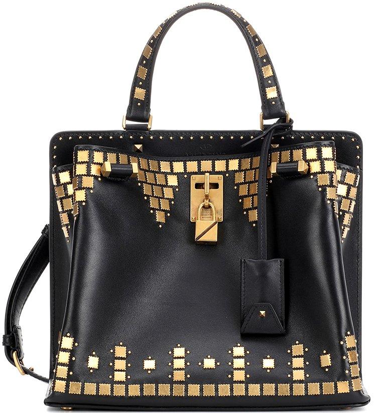 Valentino-Garavani-Gold-Studded-Joylock-Bag