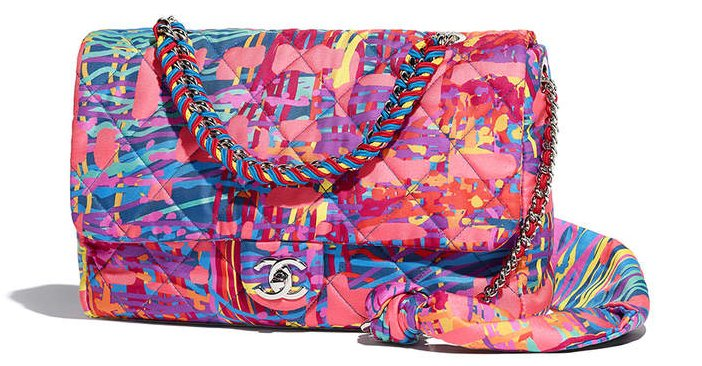 Chanel-Printed-Fabric-Multicolor-Flap-Bag-3