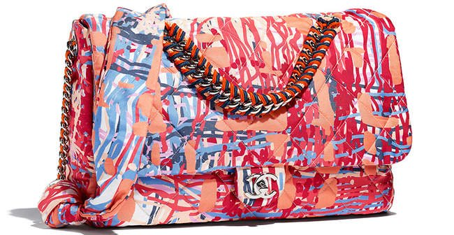 Chanel-Printed-Fabric-Multicolor-Flap-Bag-6