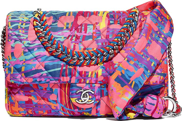 Chanel-Printed-Fabric-Multicolor-Flap-Bag