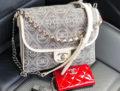 Chanel Mini Square Camellia Logo Bag