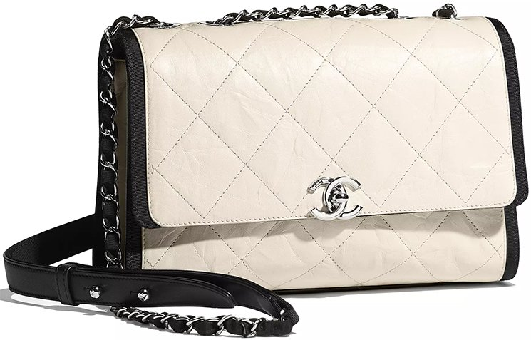 Chanel-Ivory-Black-Calfskin-Bag-3