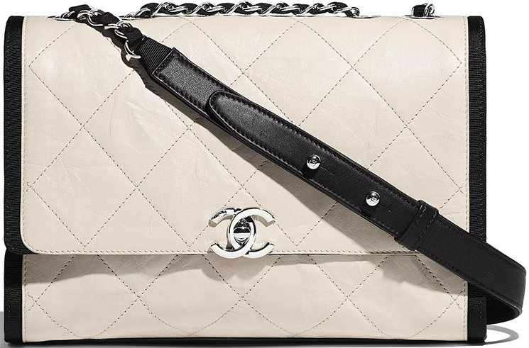 Chanel-Ivory-Black-Calfskin-Bag