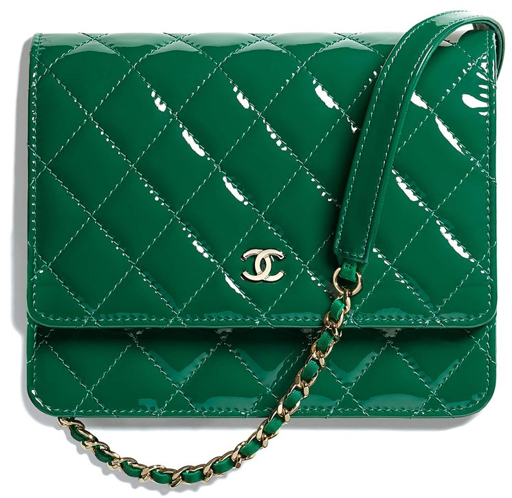 Chanel-Patent-Classic Quilted-WOC