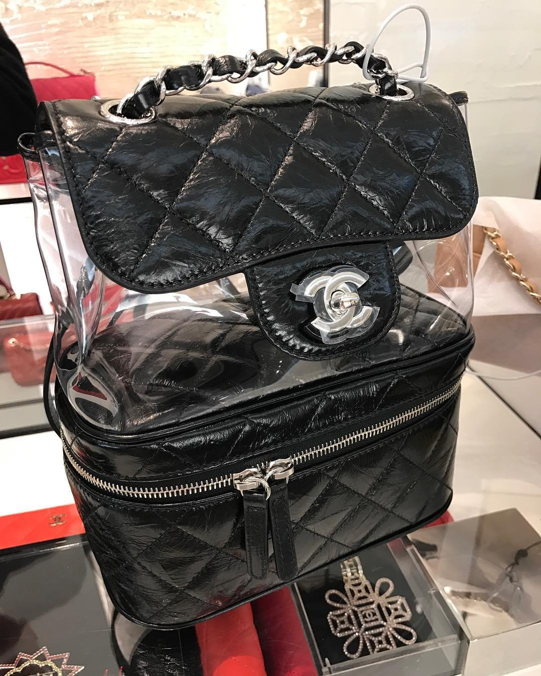 Chanel-Transparent-Vanity-Flap-Backpack-6