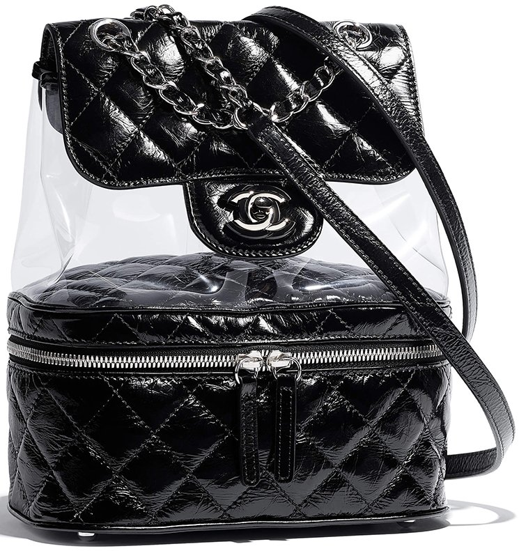 157f018f705de1 Chanel Transparent Vanity Flap Backpack | Bragmybag