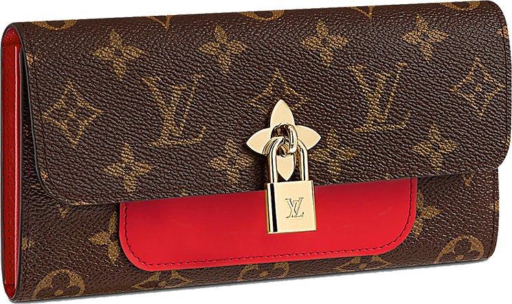 55848f0df6b9 Louis Vuitton Flower Lock Wallets