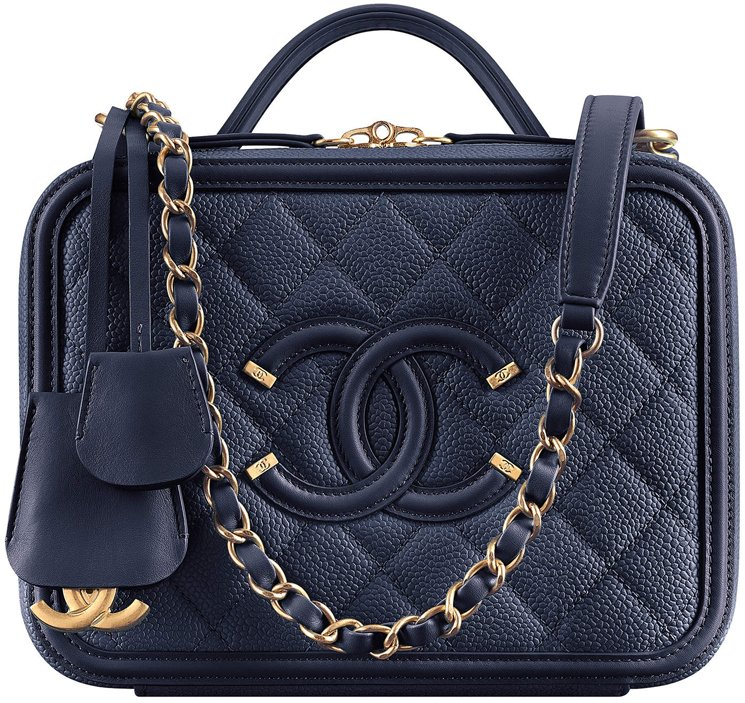 3a76615770b5d0 The Chanel CC Filigree Vanity Cases From The Cruise 2019 Collection ...