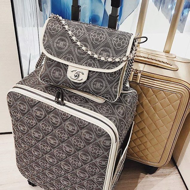 Chanel-Camellia-Logo-Coco-Case-Trolley