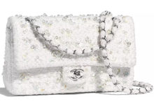 9987330ca155c Chanel Embroidered Tweed Classic Flap Bag