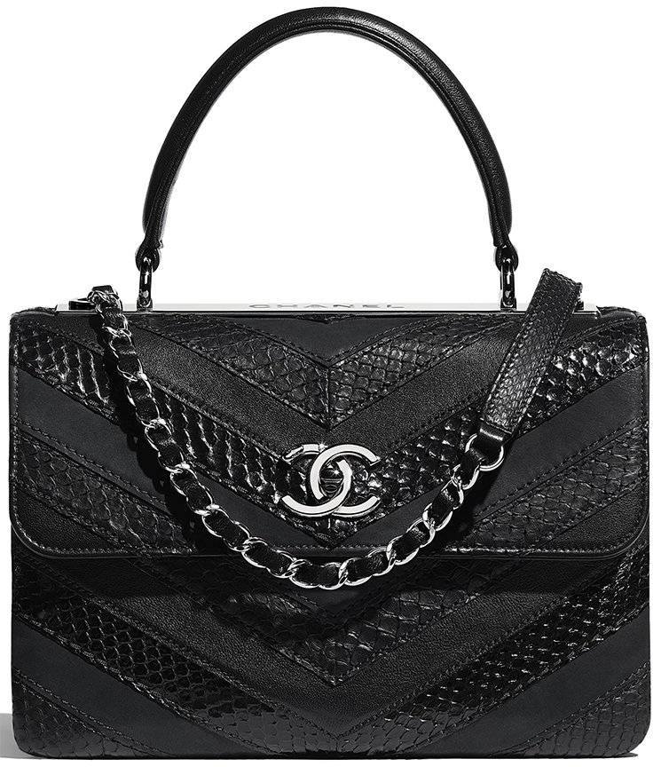 Chanel-Water-Snake-Chevron-Trendy-CC-Bag