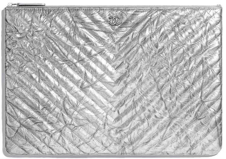 Chanel-patent-chevron-crumpled-classic-o-case
