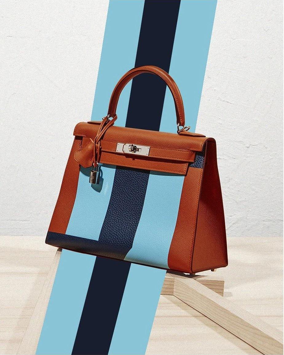Hermes-Kelly-Striped-Bag