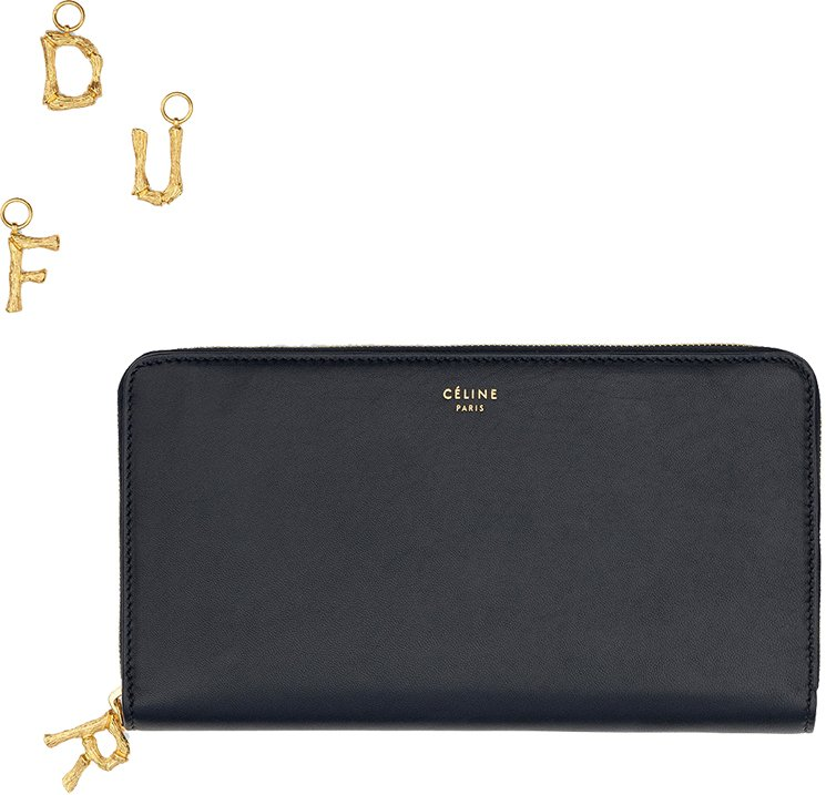 Celine-Alphabet-Large-Zipped-Multifunction-Wallet