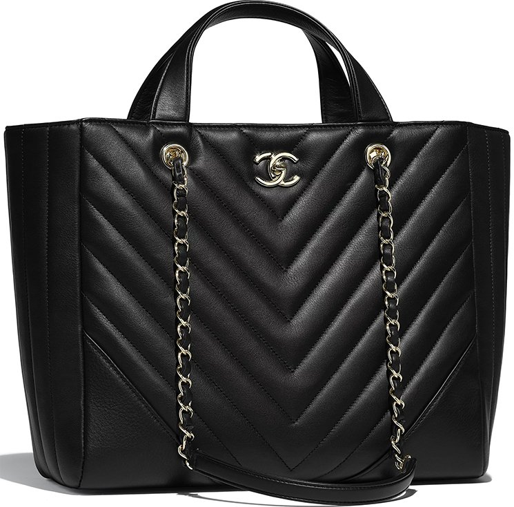 Chanel-Chevron-Statement-Tote-Bag