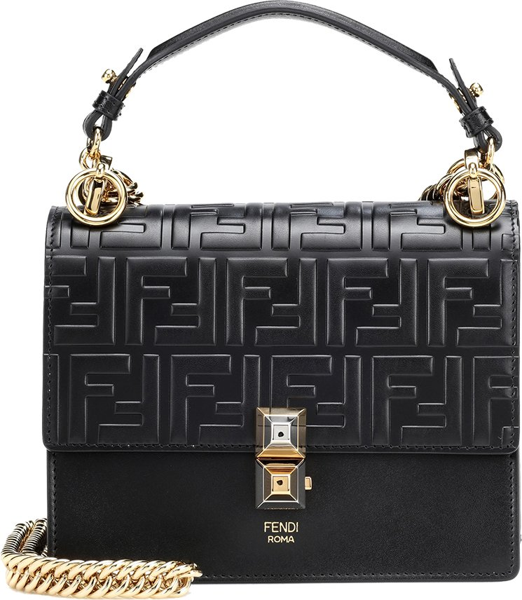 Fendi-Kan-I-Logo-Embossed-Bag