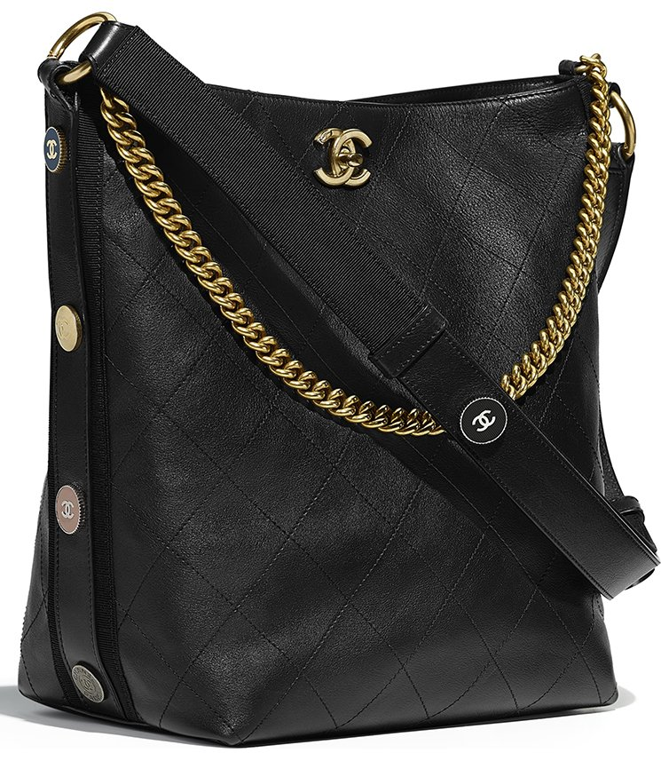 177a9364303c Chanel Calfskin Hobo Bag Style code  A57573 Size  9.1′ x 5.5′ x 9.8′  inches. Price   4000 USD