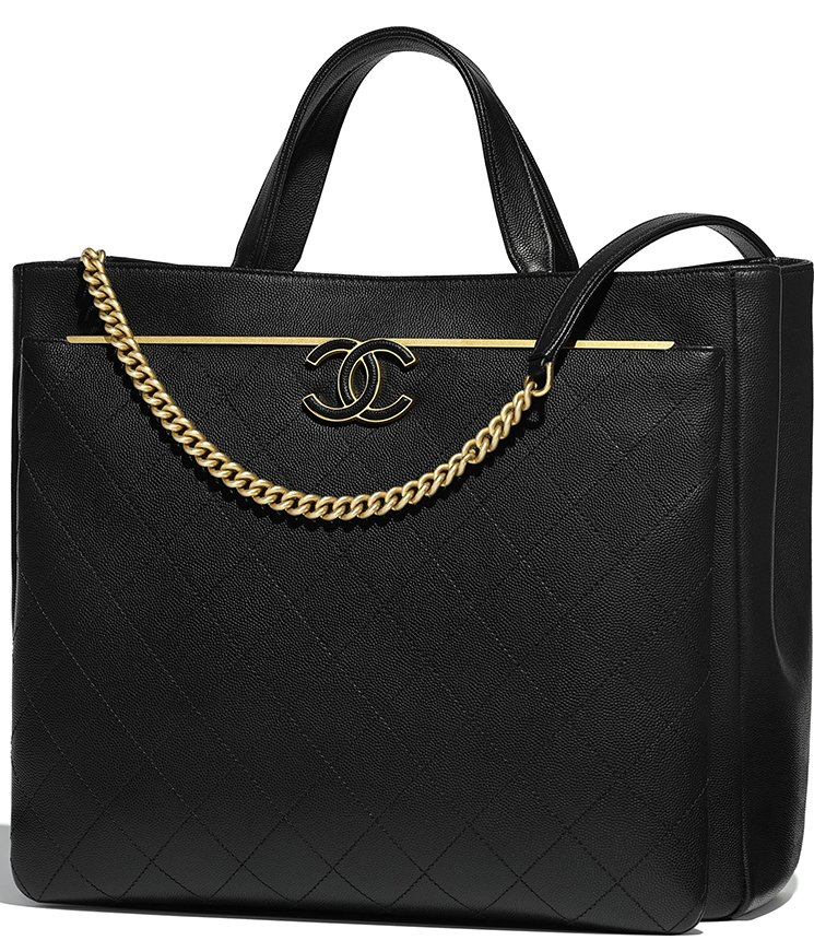 3b2e71167a9d Chanel Large Grained Calfskin Enamel CC Shopping Bag Style code  A57564  Size  11.4′ x 5.5′ x 12.6′ inches. Price   5600 USD