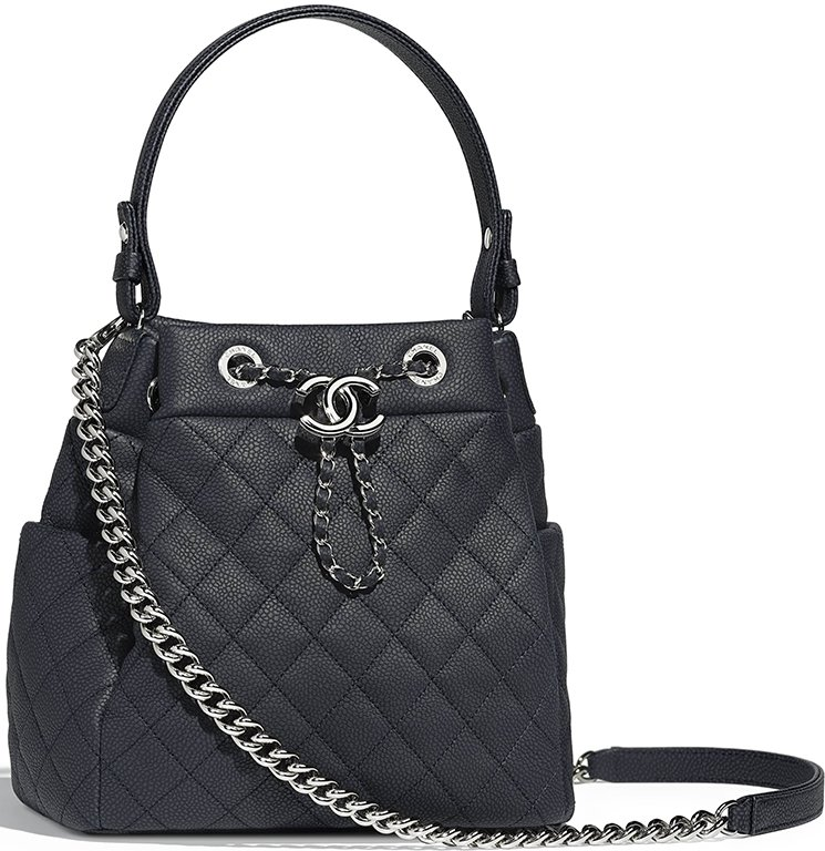 c558d60d0641 Chanel Grained Calfskin Drawstring Bag Style code  A91273 Size  8.5′ x 5.1′  x 8.3′ inches. Price   4000 USD