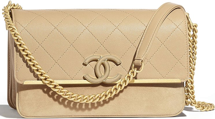 d3a35275cb8230 Chanel Grained Calfskin Enamel CC Flap Bag Style code: A57560 Size: 5.1′ x  2.8′ x 9.1′ inches. Price: $4400 USD, €3700 euro, £3280 GBP, , ¥511920 JPY,  ...
