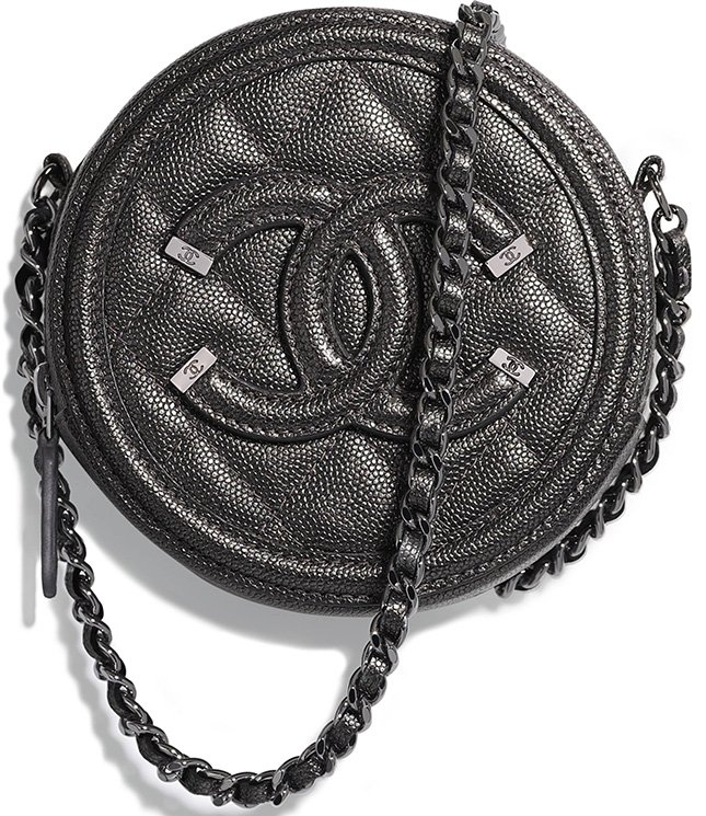 2f034c22a2fcfb Chanel CC Filigree Round Chain Clutch | Bragmybag