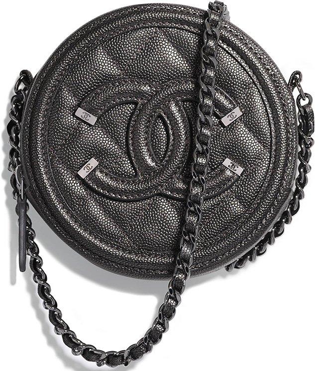 fdd94cf3a546 Chanel CC Filigree Round Chain Clutch | Bragmybag