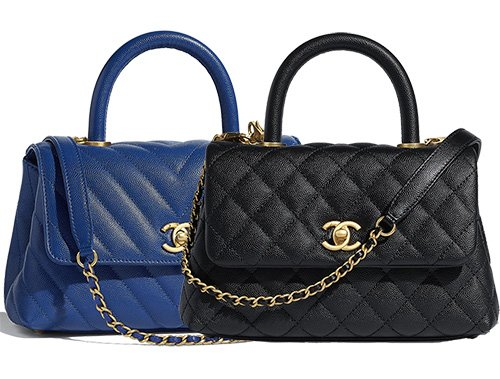 Chanel Coco Handle Bag: Diamond versus Chevron Quilting