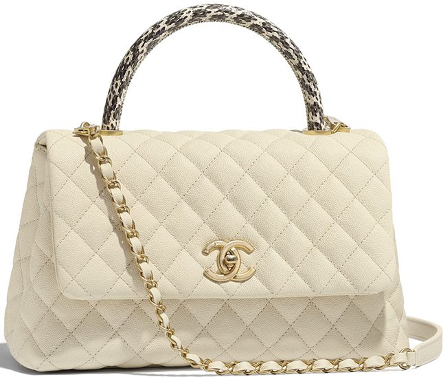 672b066834dfc5 Chanel Coco Handle Bag With Elaphe Handle | Bragmybag