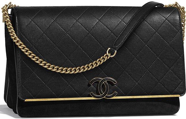 54b8a2b93926 Chanel Grained Calfskin Enamel CC Flap Bag | Bragmybag