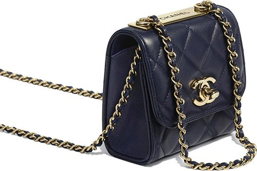 Chanel Small Trendy CC Clutch With Chain