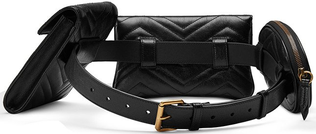 de5db466891 Gucci GG Marmont Matelasse Multi Pocket Belt Bag