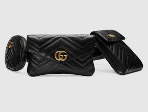 6650322610dba0 Gucci GG Marmont Matelasse Multi Pocket Belt Bag