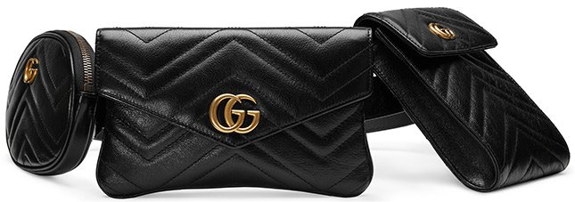 2b6e595cd74 There are endless of choices but I haven t spotted anything like the Gucci  Marmont Matelasse Multi Pocket Belt Bag.