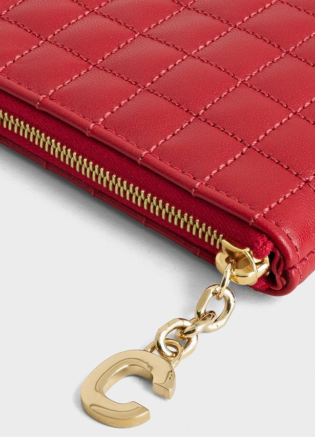 Chanel C Charm Coin Card Pouch