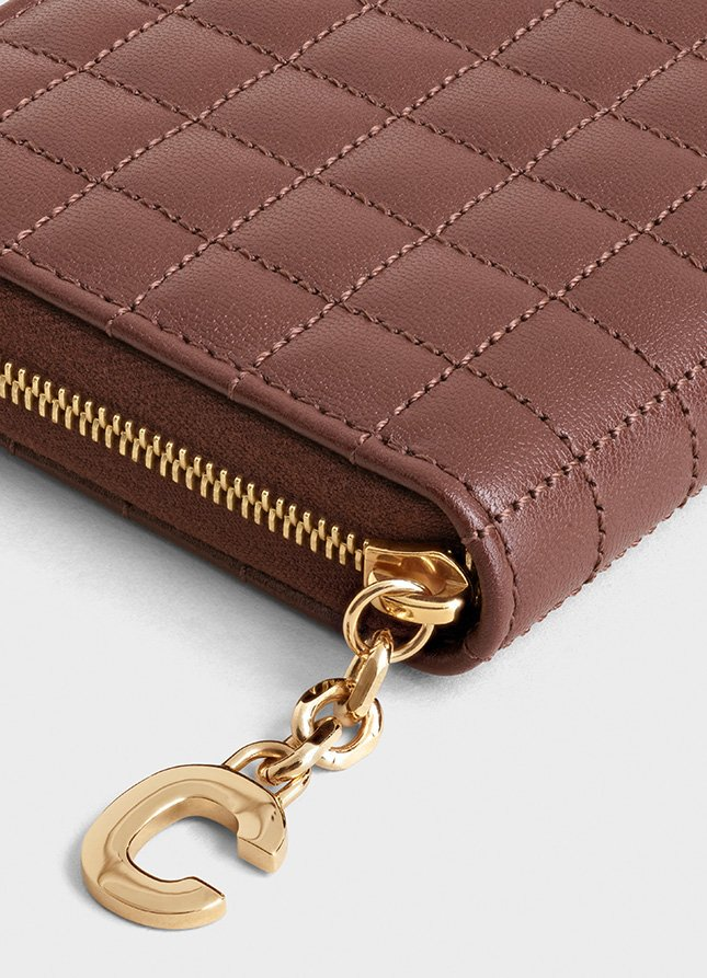 Chanel C Charm Compact Zipped Wallets