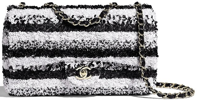 Chanel Horizontal Sequins Flap Bag