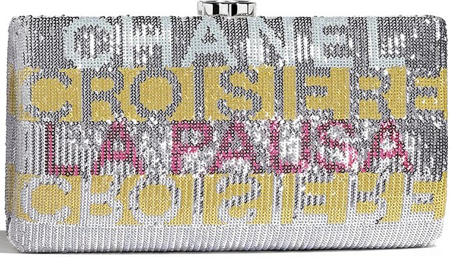 Chanel Embroidered Satin Evening Clutch