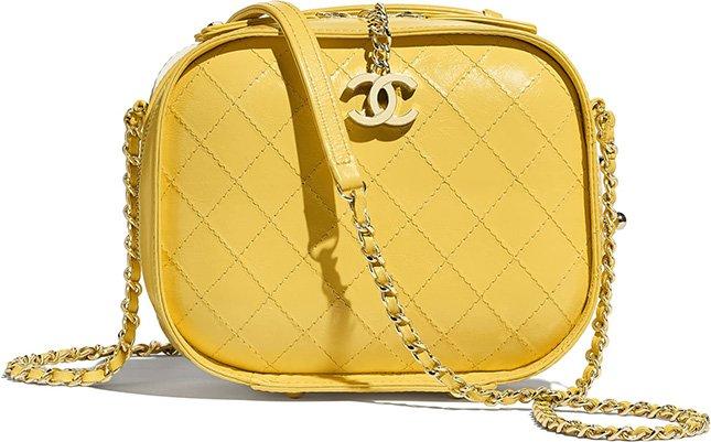 Chanel Small Crumpled Calfskin Vanity Case Bag