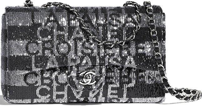 Chanel Medium Embroidered Satin Bag