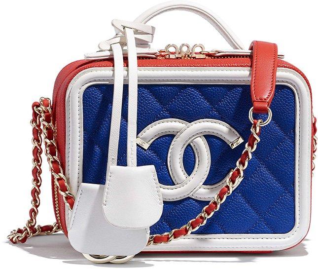 Chanel Small CC Filigree Vanity Case