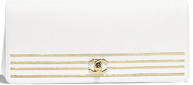 Chanel Captain Gold Clutch